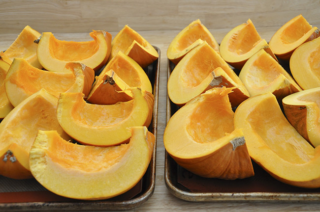 Sliced Pumpkin for Puree