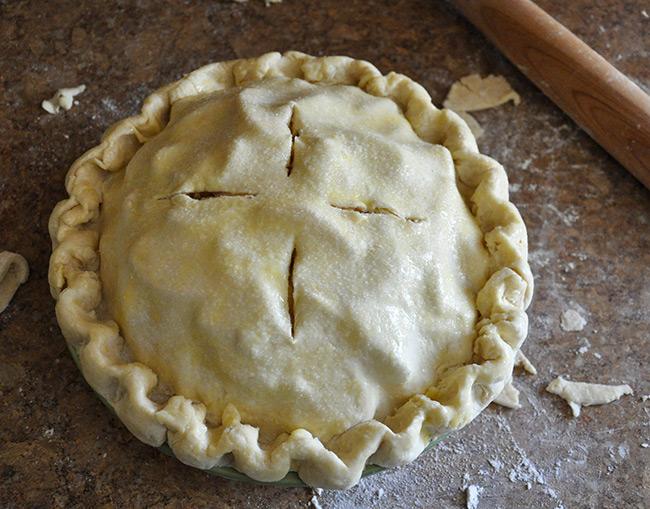 Pie Crust before baking